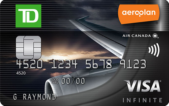 Canadas top travel rewards credit cards for 2018 td aeroplan visa infinite card reheart Images